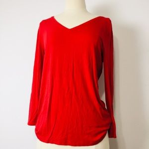 Anne Klein Red Longsleves Shirt  M""